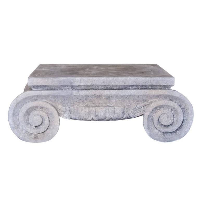 19th Century Limestone Capitol Coffee Table At 1stdibs