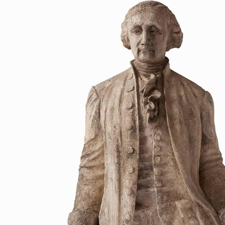 Hand-Crafted 19th Century Statue of George Washington For Sale