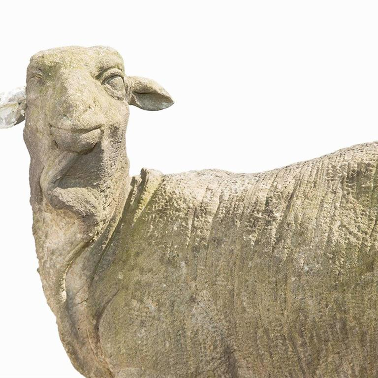 18th century sheep garden statue in limestone for sale at for Garden design 18th century