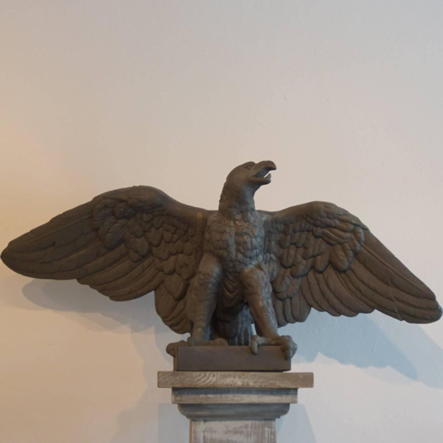 Large Mid 20th Century Pair Of Eagle Statues For Sale At