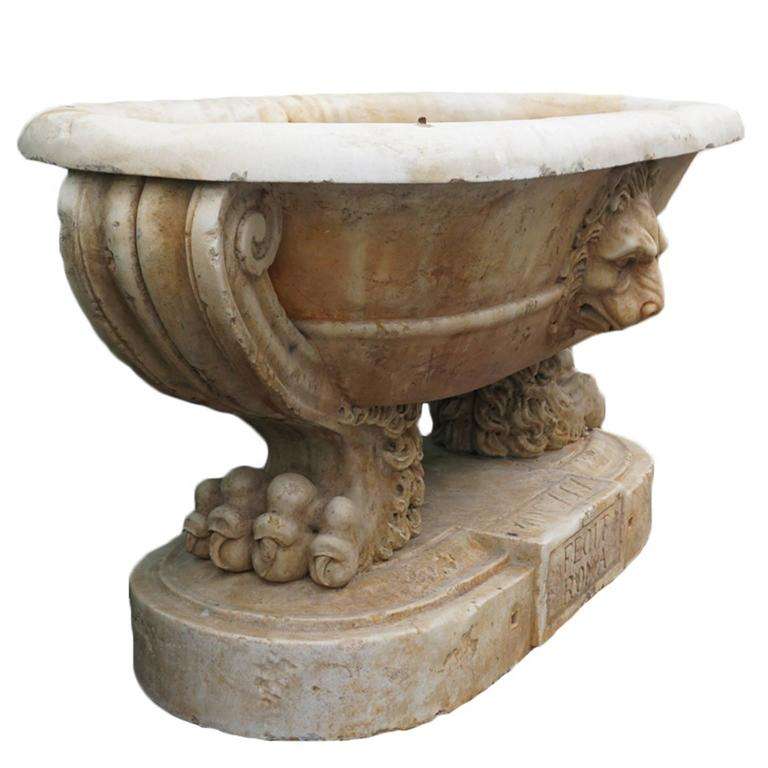 16th Century Roman Marble Tub For Sale At 1stdibs