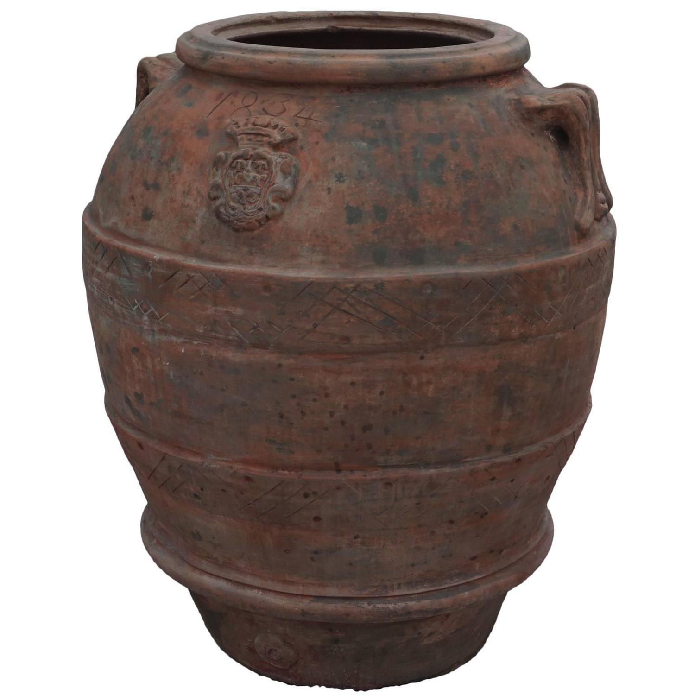 19th Century Large Tuscan Garden Jar Planters At 1stdibs