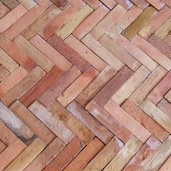 Authentic Provence Antique French Terra Cotta Pavers Briques de Cheminee Rose