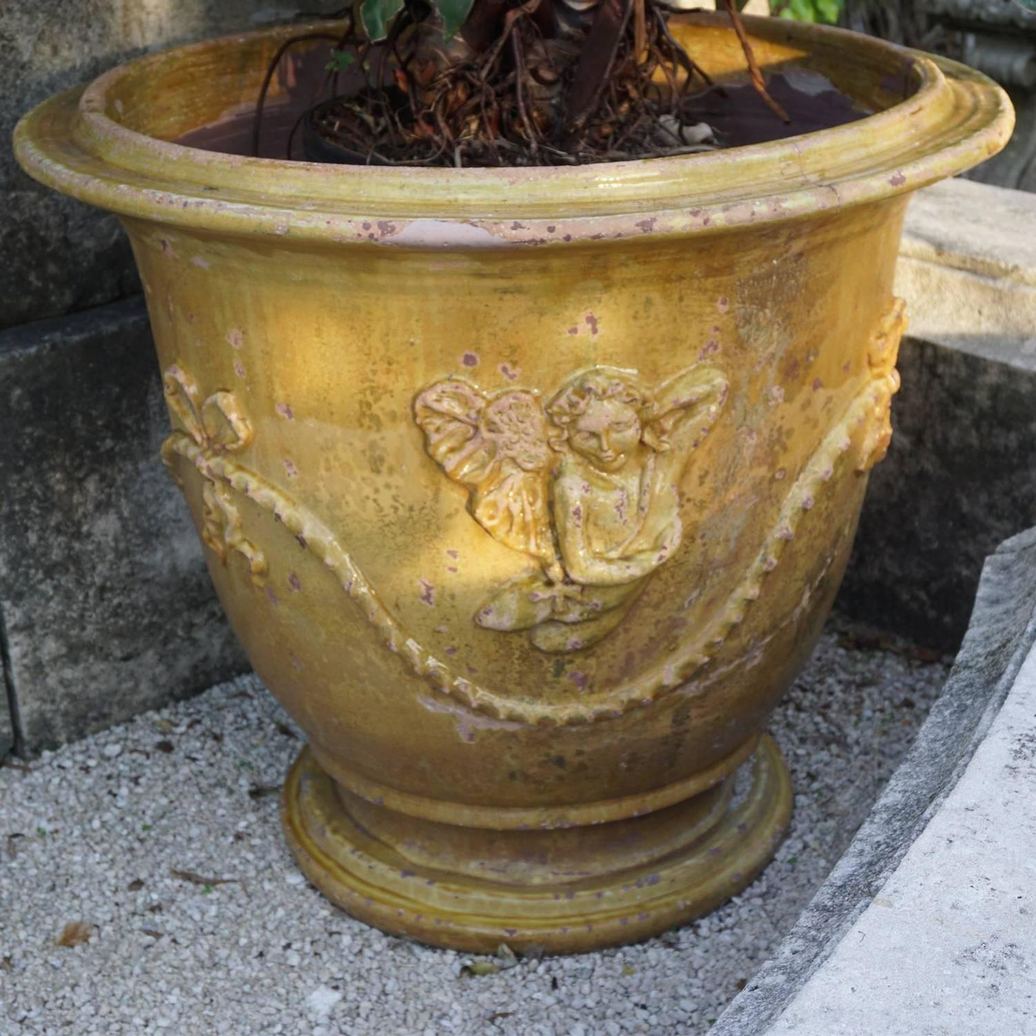 Pair Of French Anduze Planter Pots From Provence For Sale