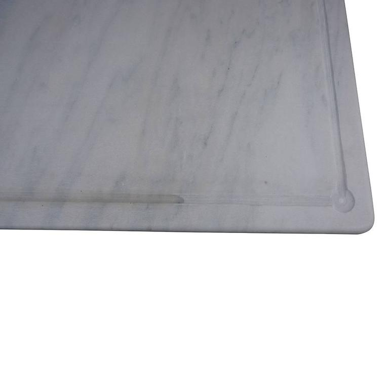 Wrought Iron 20th Century Italian Butcher Table in Cast Iron and Carrara Marble Top For Sale
