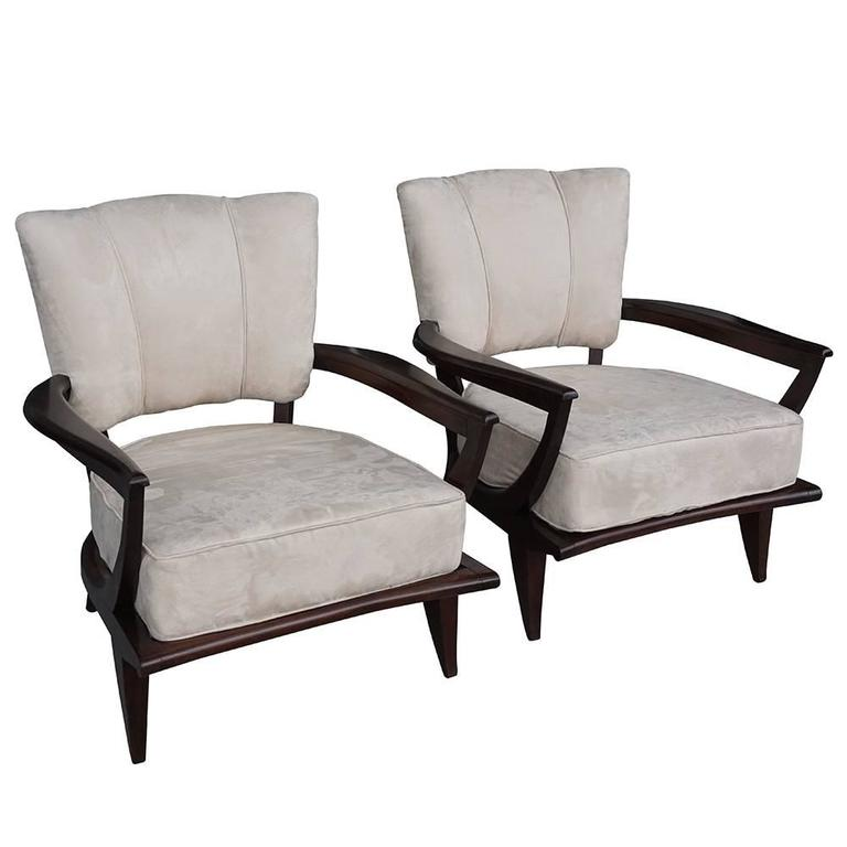 20th century pair of french fauteuils etienne henri martin for French furniture designers 20th century