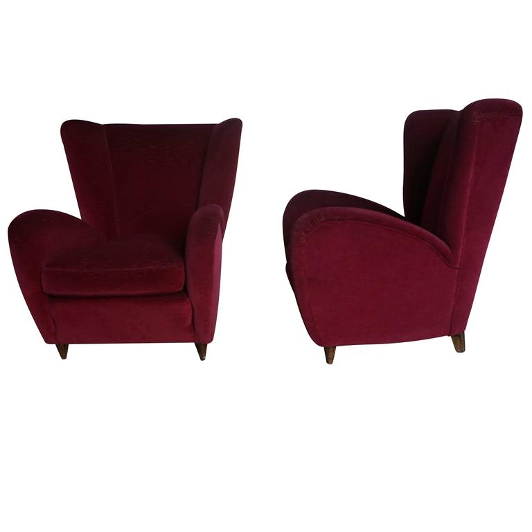 This Pair Of Lounge Wingback Chairs Were Designed By The Famous Italian  Designer Paolo Buffa And