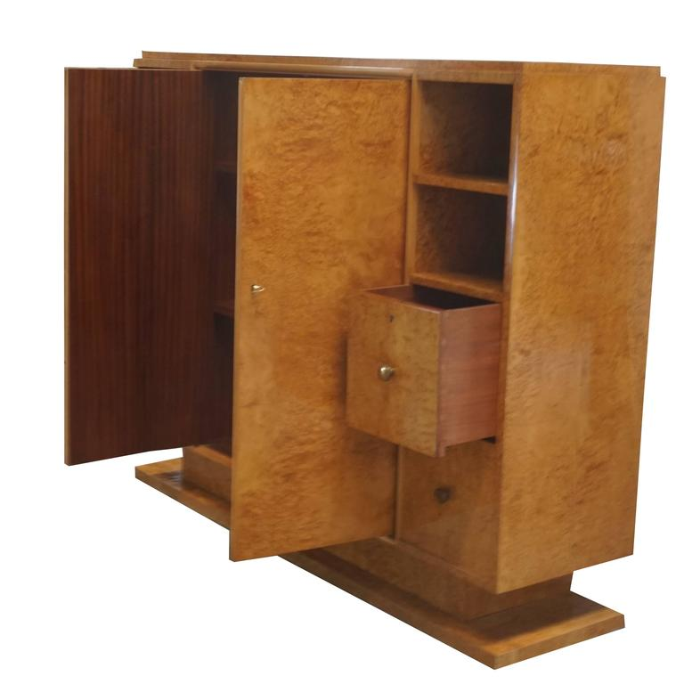 20th century french trulia burl wood cabinet for sale at for Burl wood kitchen cabinets