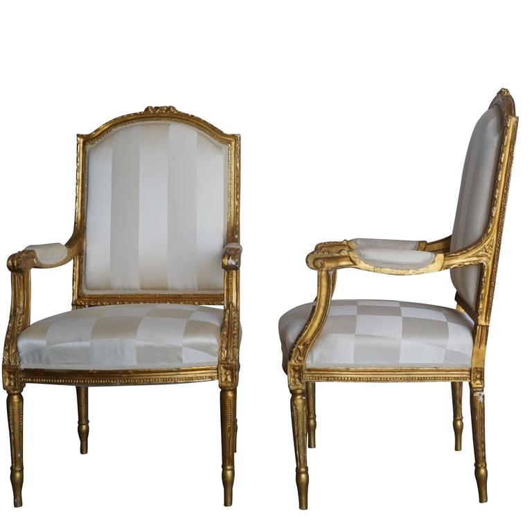 Mid-19th Century Set of Four Napoleon III French Armchairs In Good Condition For Sale In West Palm Beach, FL