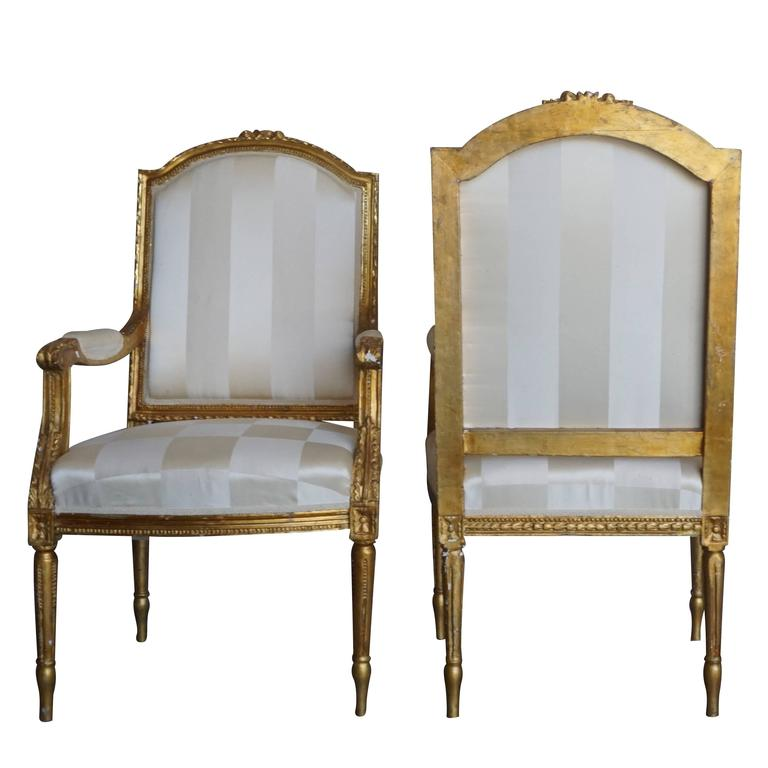 Upholstery Mid-19th Century Set of Four Napoleon III French Armchairs For Sale