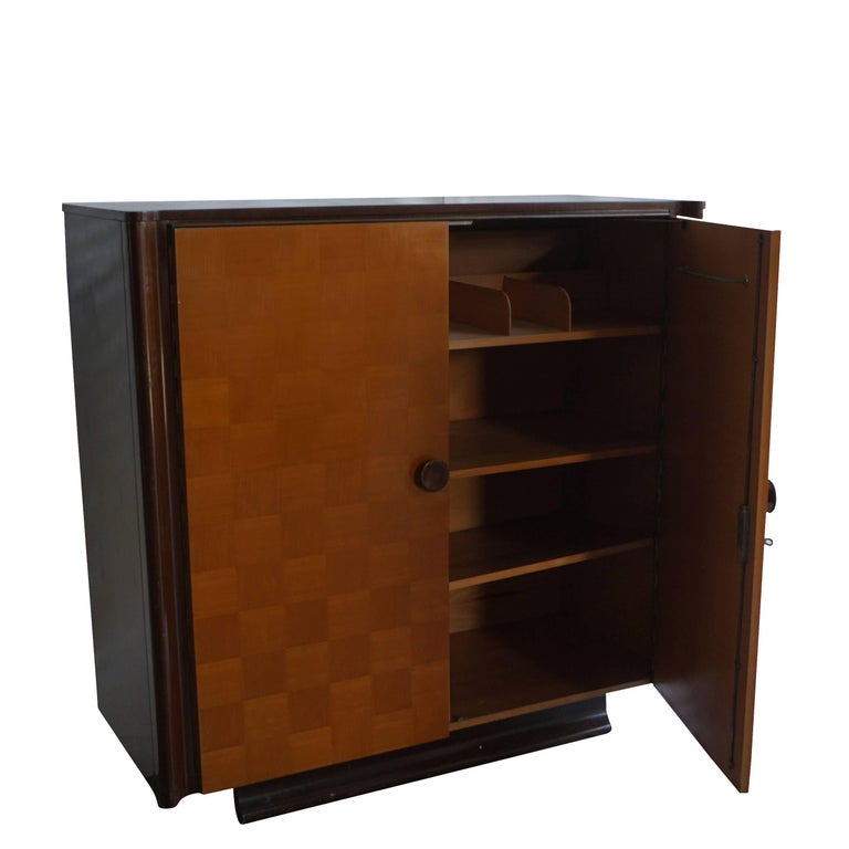 20th Century Czech Art Deco Mahogany Sideboard For Sale 4