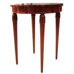 American Art Deco Marquetry Tea Table Occasional Table