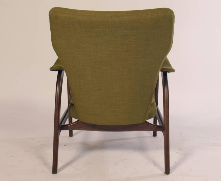 Late 20th Century Pair of Mid Century Modern Club Chairs  For Sale