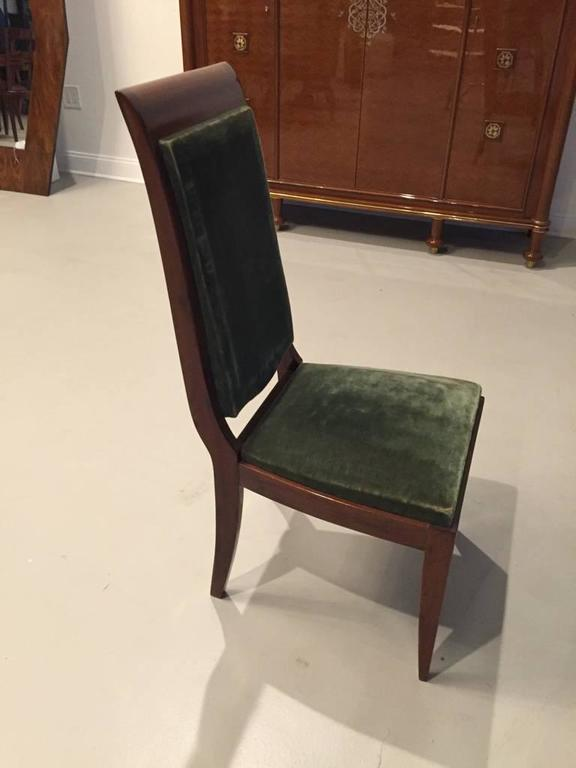 Six Gaston Poisson Numbered French Art Deco Dining Chairs In Good Condition For Sale In North Bergen, NJ