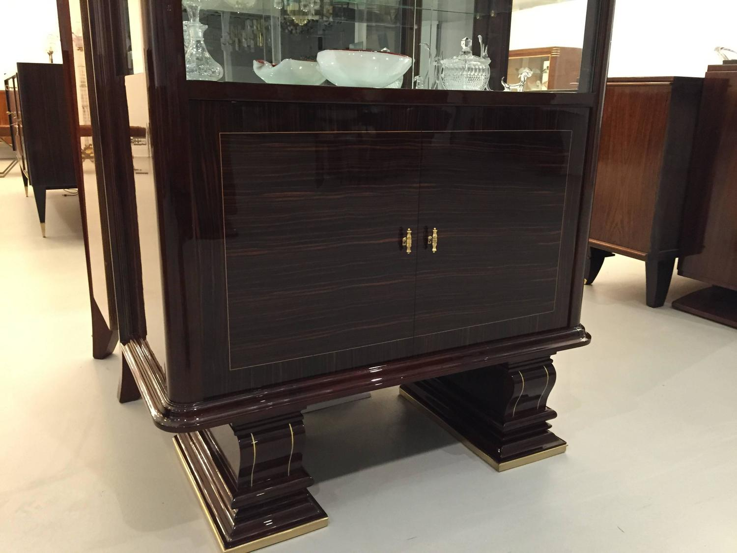 French Art Deco Vitrine Display Cabinet Dry Bar For