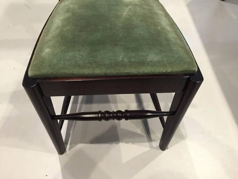 Six Gaston Poisson Attributed French Art Deco Dining Chairs For Sale 2