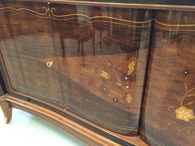 20th Century French Art Deco Six-Door Buffet in the Style of Jules Leleu For Sale