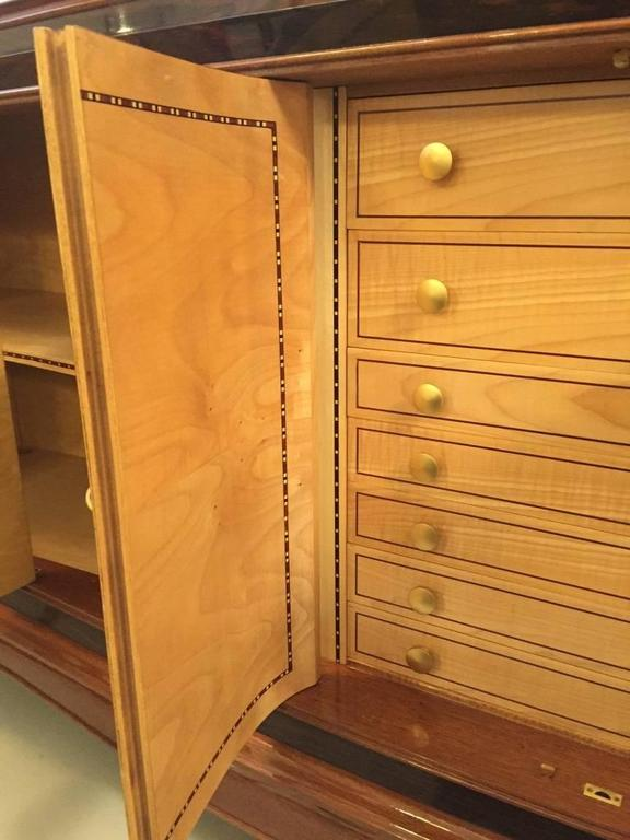 French Art Deco Six-Door Buffet in the Style of Jules Leleu For Sale 6