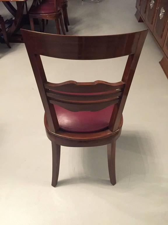 French Art Deco Dining Chairs Set of Six In Good Condition In North Bergen, NJ
