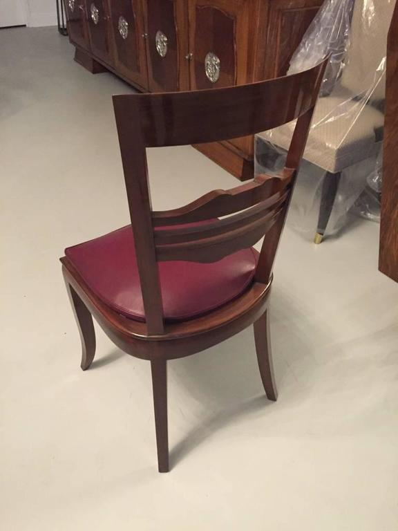 Mid-20th Century French Art Deco Dining Chairs Set of Six