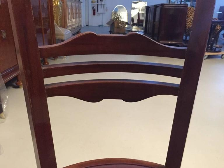 French Art Deco Dining Chairs Set of Six 2