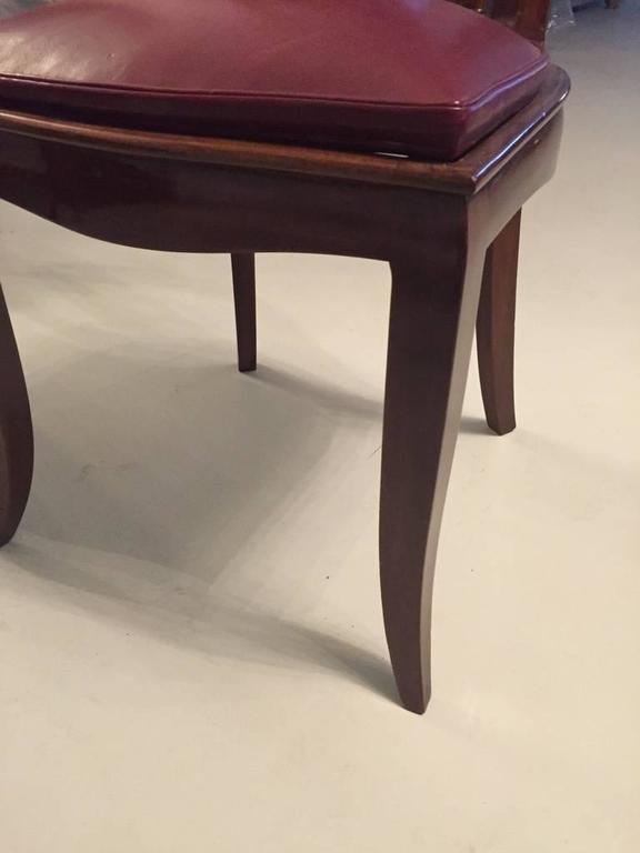 French Art Deco Dining Chairs Set of Six 4