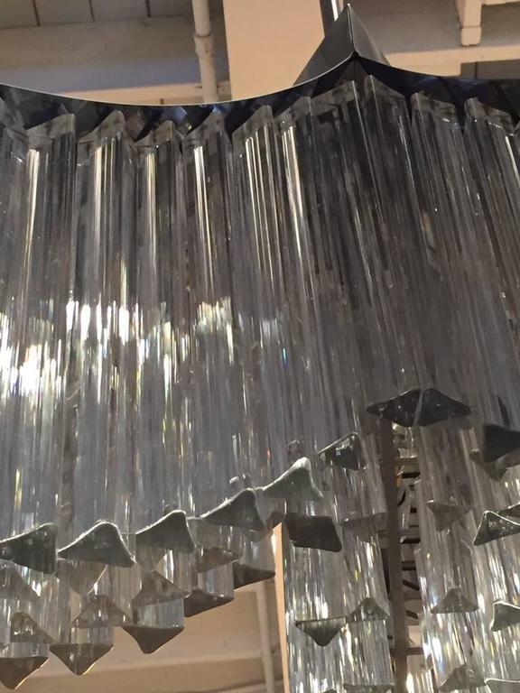 Mid-Century Italian Murano Glass Chandelier by Venini In Excellent Condition For Sale In North Bergen, NJ