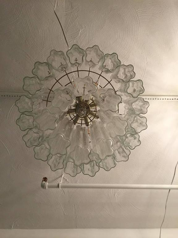 Mid-20th Century Mid-Century Italian Tronchi Glass Chandelier  For Sale