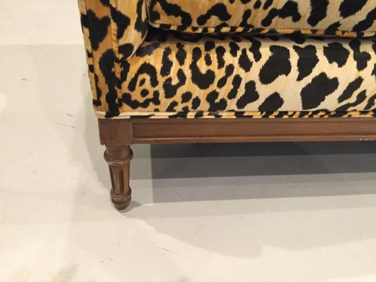 Mid-Century Leopard Print Sofa In Good Condition In North Bergen, NJ