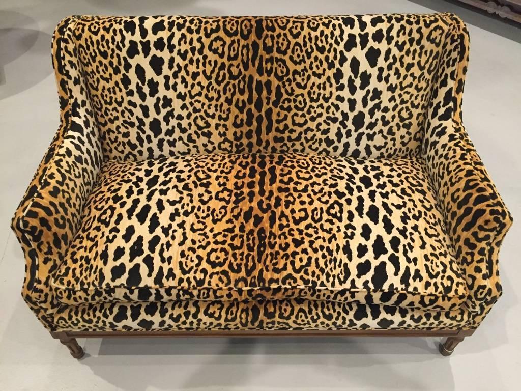 Mid Century Leopard Print Sofa For Sale Stdibs