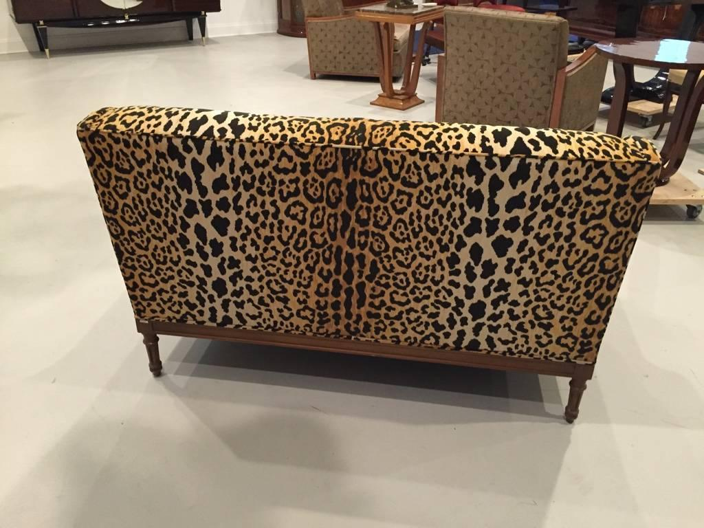 mid century leopard print sofa for sale at 1stdibs