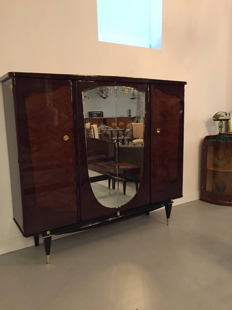 French Art Deco Bedroom Set Bed Nightstands And Armoire For Sale At 1stdibs