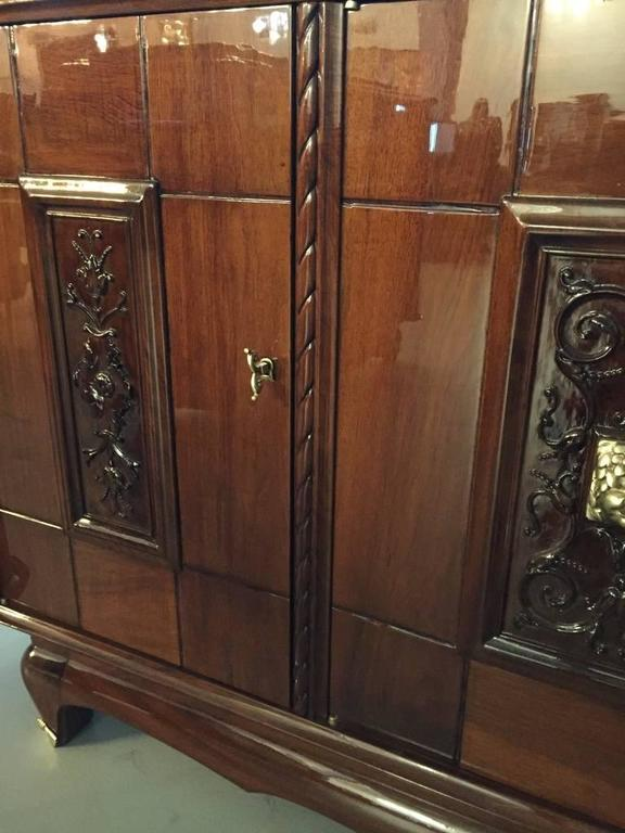 Bronze Face French Art Deco Buffet For Sale 3