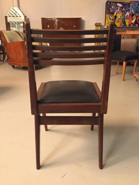 Set of Six Mid-Century Italian Dining Chairs  In Good Condition For Sale In North Bergen, NJ