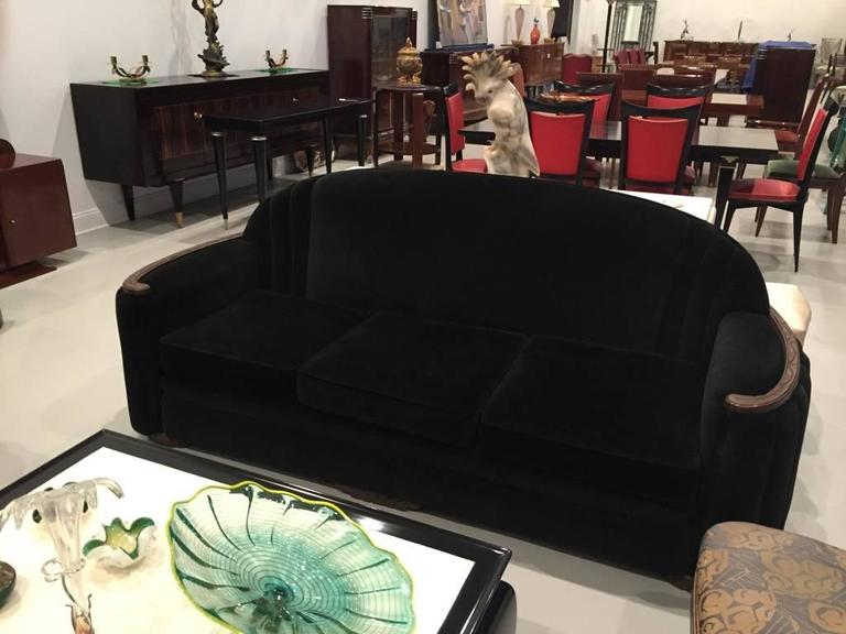Mid-20th Century American Art Deco Sofa and Club Chair For Sale