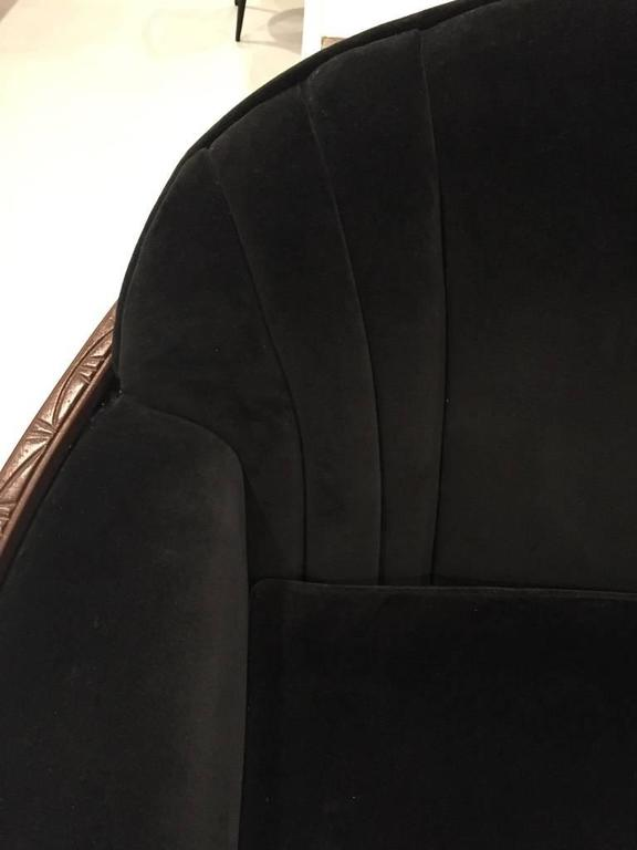 American Art Deco Sofa and Club Chair For Sale 4