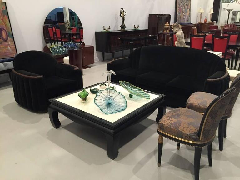 American Art Deco Sofa and Club Chair In Excellent Condition For Sale In North Bergen, NJ