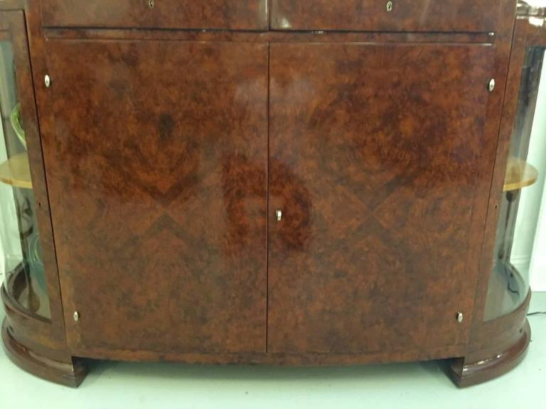 Mid-20th Century French Art Deco Buffet with Portoro Marble Top For Sale