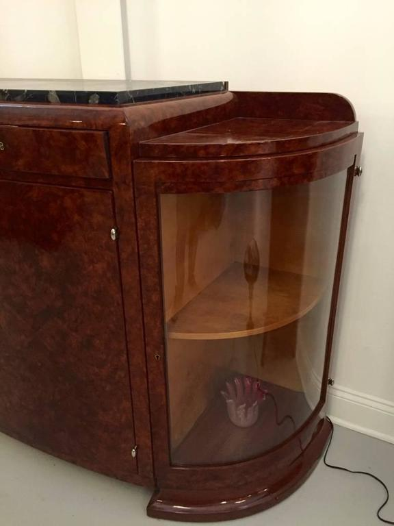 French Art Deco Buffet with Portoro Marble Top For Sale 1