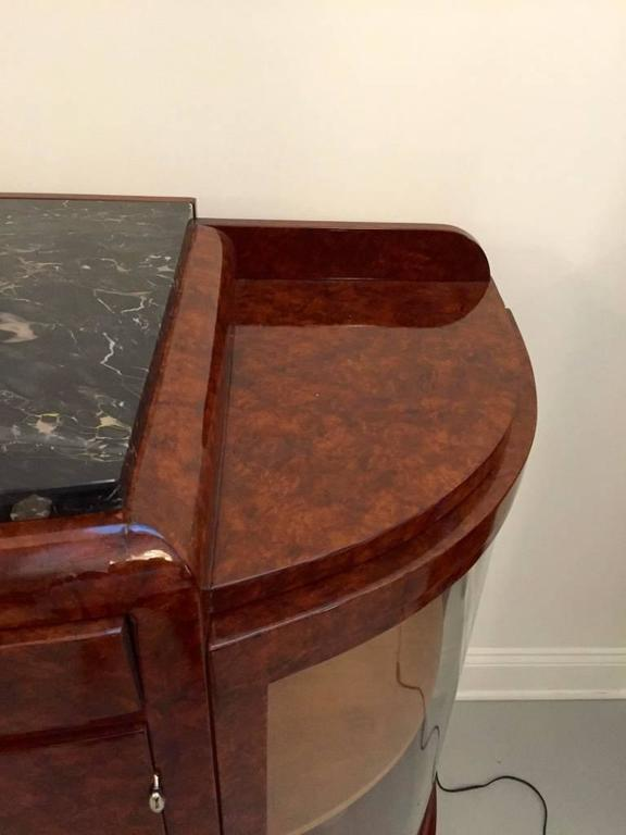 French Art Deco Buffet with Portoro Marble Top For Sale 2