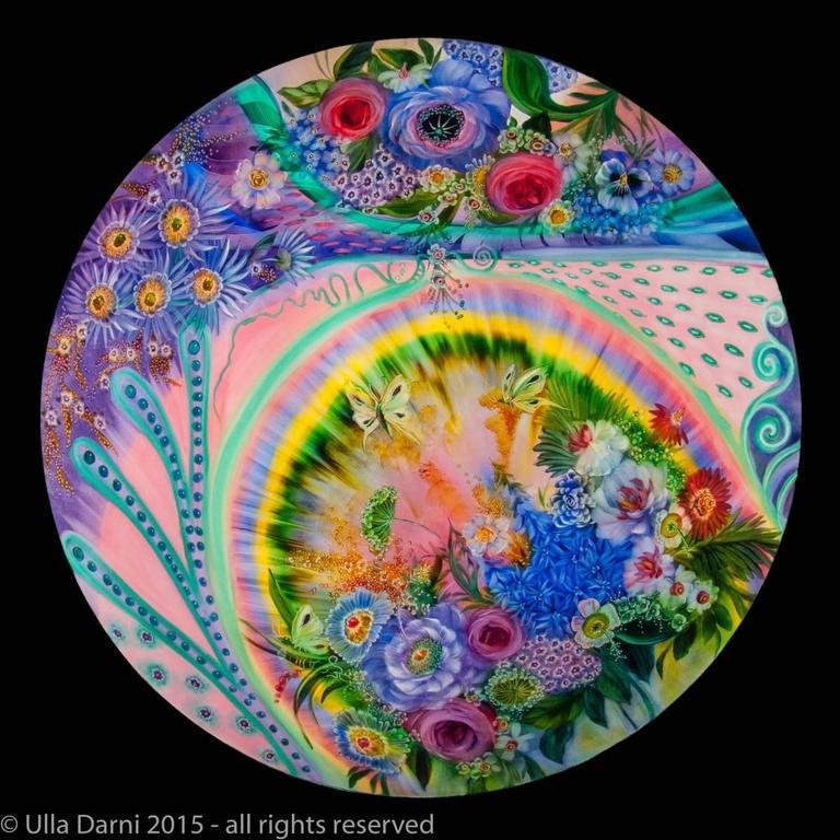 Signed Original Ulla Darni Rainbow Chandelier For Sale 3