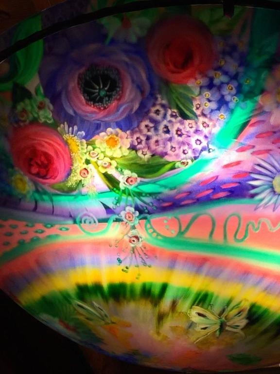 Modern Signed Original Ulla Darni Rainbow Chandelier For Sale