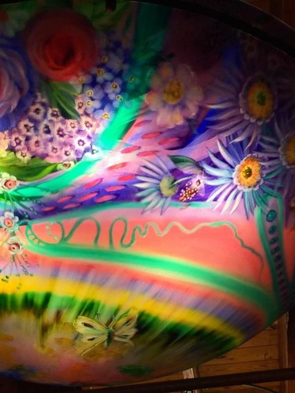 Signed Original Ulla Darni Rainbow Chandelier In Excellent Condition For Sale In North Bergen, NJ
