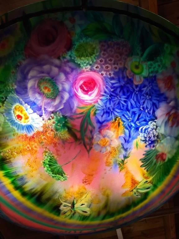 Signed Original Ulla Darni Rainbow Chandelier For Sale 1
