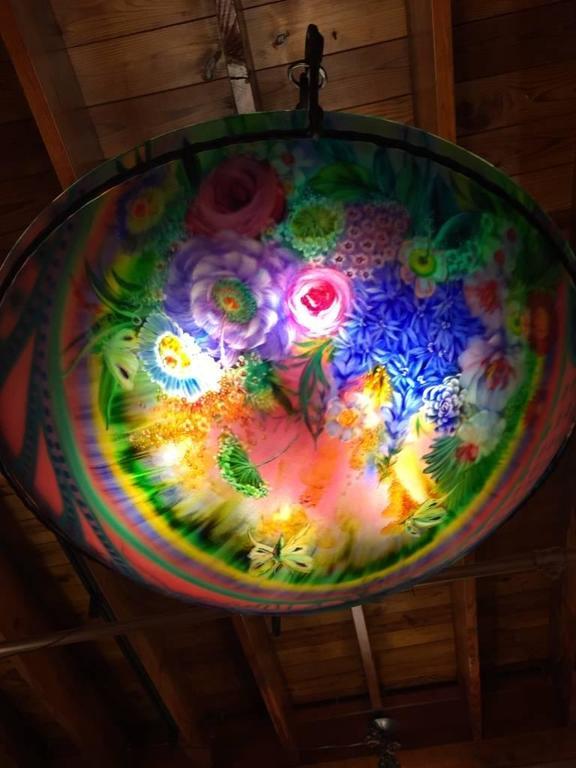 Signed Original Ulla Darni Rainbow Chandelier For Sale 2