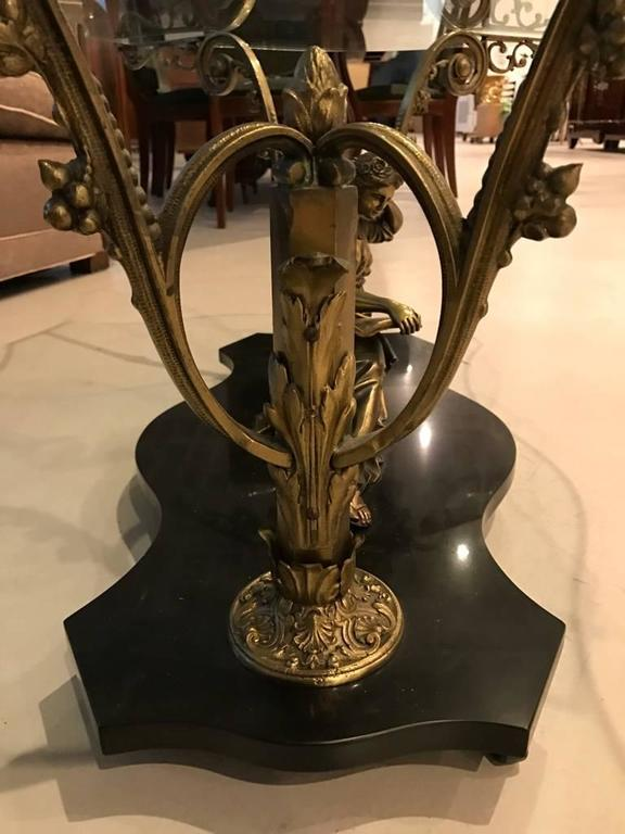 French Art Nouveau or Art Deco Coffee Table For Sale 4