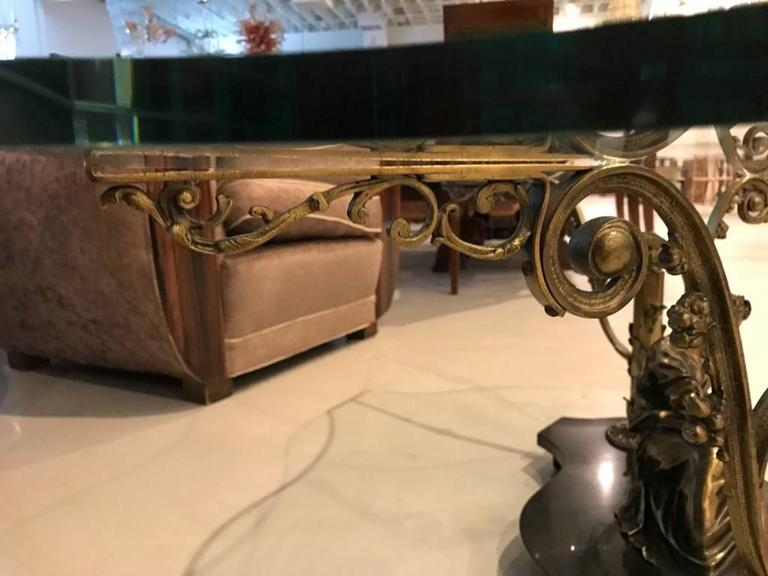 French Art Nouveau or Art Deco Coffee Table For Sale 5