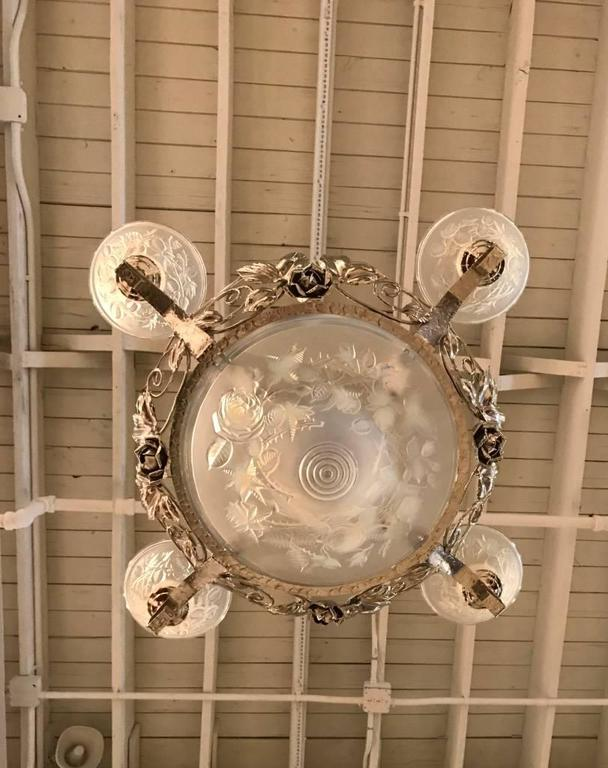 French Art Deco Chandelier Signed by P. Maynadier For Sale 1