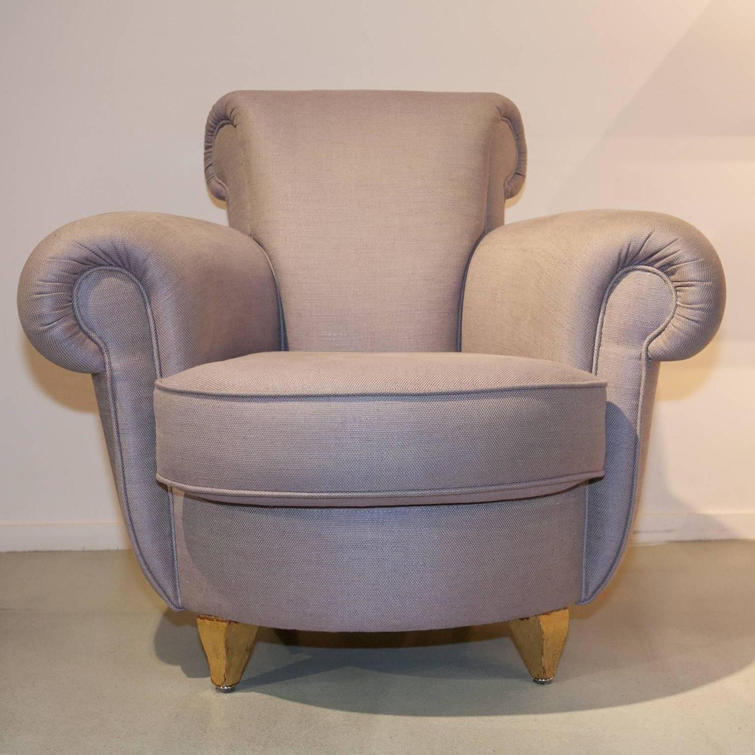 french 1940s lounge suite in light lilac for sale at 1stdibs. Black Bedroom Furniture Sets. Home Design Ideas