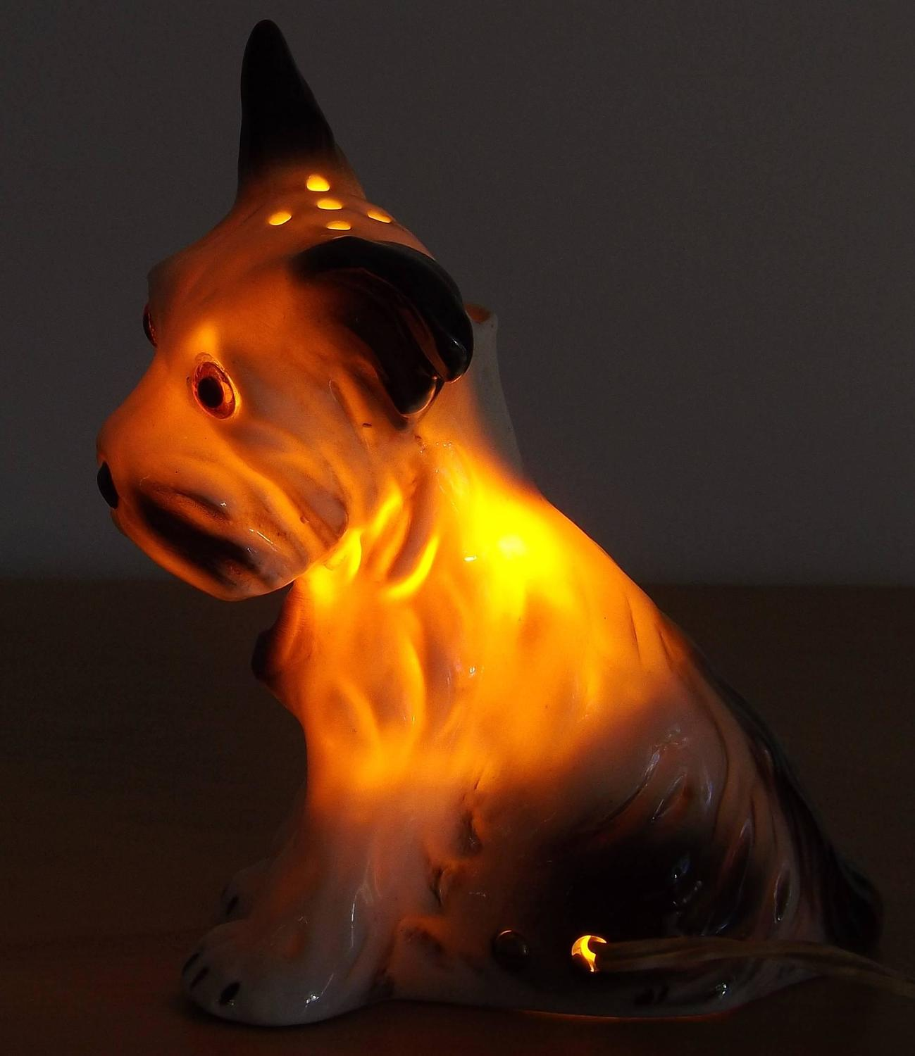 Scent Shop Night Lights: 1930s Puppy Dog Perfume Lamp Or Night Light For Sale At
